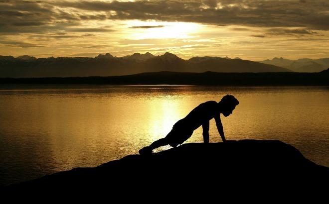 exercise-sunset